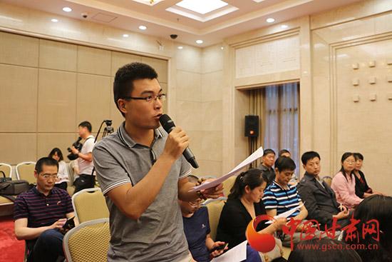 中国工业报甘肃站记者提问