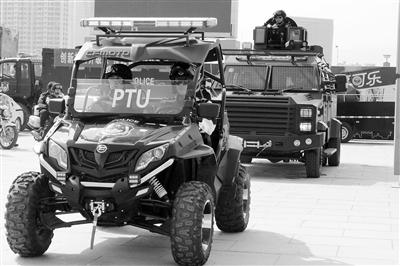 反恐巡逻防控 兰州警方启动PTU警务模式