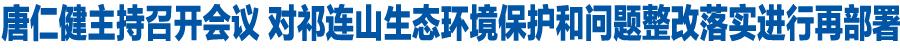 唐仁健主持召开省政府党组会议 对祁连山生态环境保护和问题整改落实进行再部署