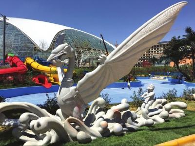兰洽会历年签约项目巡展之兰州新区西部恐龙水乐园7月开门迎客