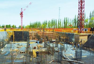 酒泉玉门市医疗服务小区建设项目正在抓紧施工(图)