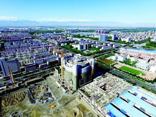 酒泉肃州区项目建设齐头并进(图)