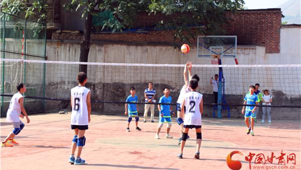 全国青少年气排球赛在兰开幕 倡导快乐运动相伴成长(组图)