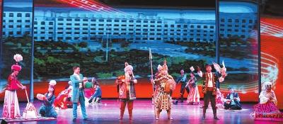 酒泉阿克塞哈萨克族自治县组织非遗文化传承人在敦煌飞天剧院展演(图)