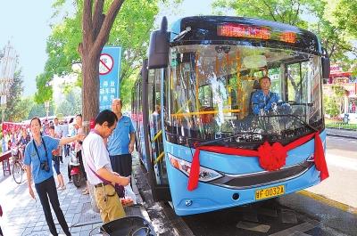 酒泉城区40辆新能源公交车投运(图)