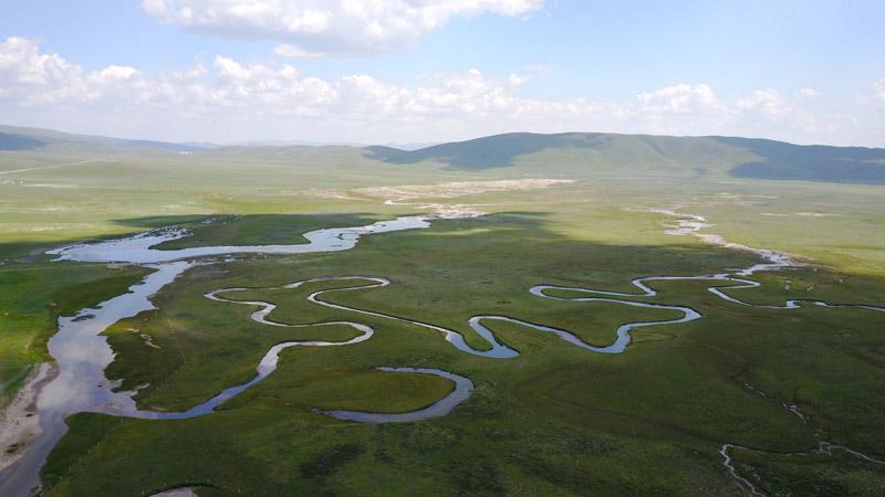 甘肃甘南:美丽湿地 生态画卷