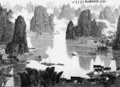 湾江水碧(中国画)