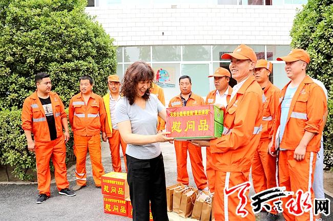 天水局领导慰问武山公路段一线职工