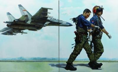 军事美术创作:强军路上展新风