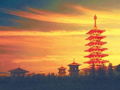 图说甘肃|夕阳下的大云寺(图)
