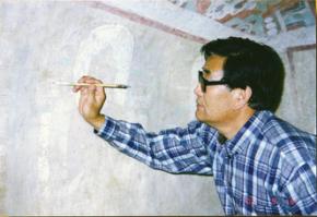 """毕生心血""""绣""""壁画 记著名文物修复保护专家李云鹤先生"""