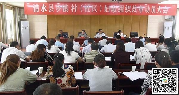 天水清水县稳步推进乡镇、村(社区)妇联组织改革(图)