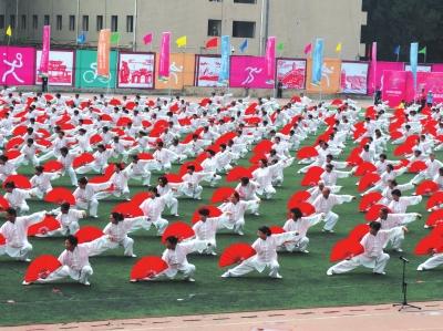 兰州市第八届运动会昨开幕 李荣灿出席并宣布开幕