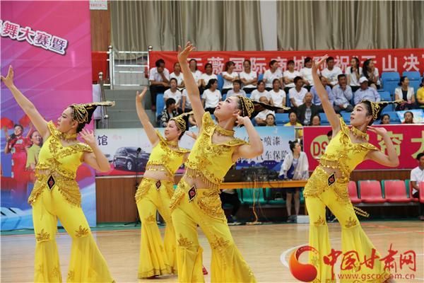 张掖高台县百村广场舞决赛举行(图)