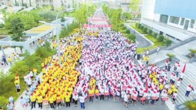 陇南市市区环江健身跑活动举行