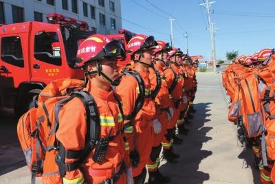 兰州新区消防支队吹响集结号开展地震救援演练(图)