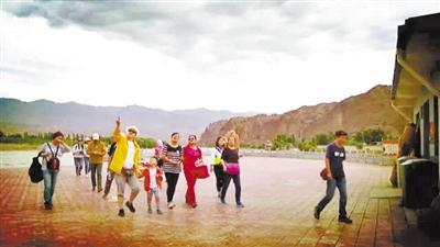 发生山洪灾害后第一天 白银景泰黄河石林景区接待游客3000余人