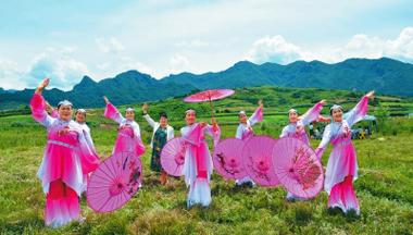 定西市渭源县会川镇元寺滩村举行首届文化旅游节