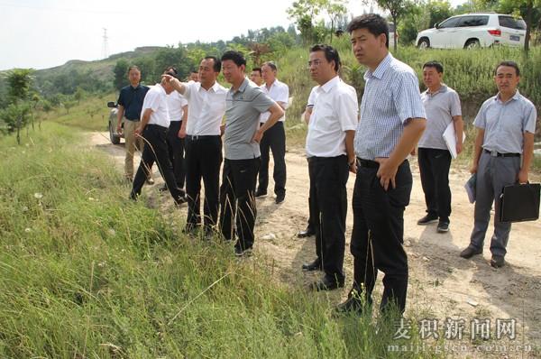 甘肃建投集团董事长苏海明在天水麦积区考察项目(图)
