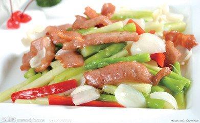 芦笋叉烧:美味私房炒猪颈肉_每日小时菜_中国蘑菇肉1食谱图片