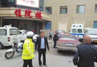 兰州交警:病人大出血警车开道护送就医(图)