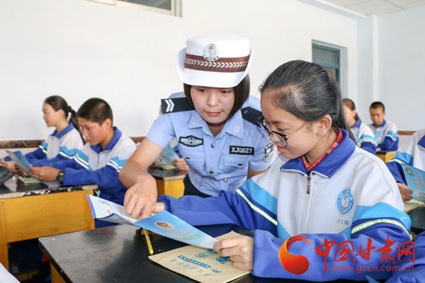 张掖临泽:开学第一课 从交通安全开始(组图)