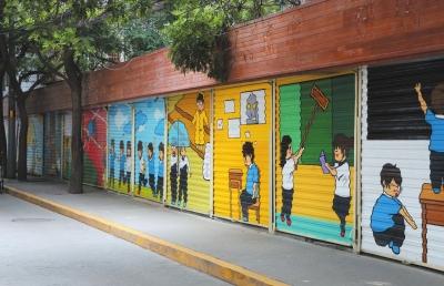 兰州市城关区畅家巷文化墙扮靓小街巷(图)