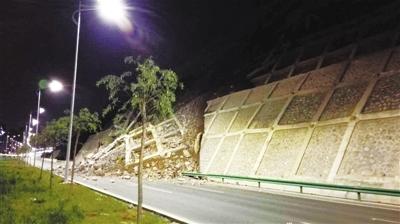 兰州:北环路昨晚发生山体滑坡 九安隧道两侧实施交通管制