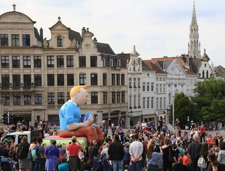 比利时布鲁塞尔举办漫画节
