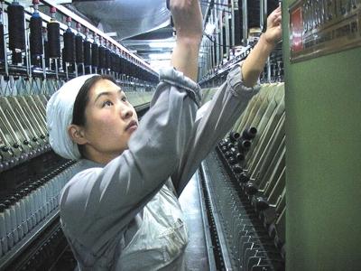 在平凡的岗位上干出不平凡的业绩  访兰州三毛纺织集团有限责任公司范冬云(图)