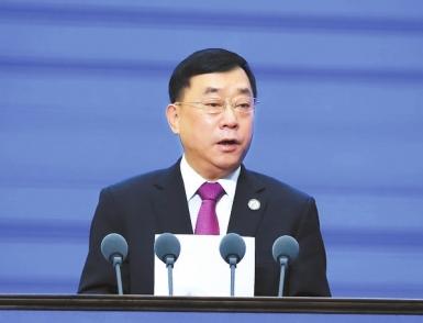 """人民日报社副社长张建星谈""""一带一路""""媒体合作论坛"""