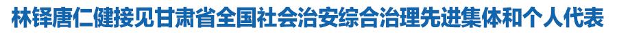 林铎唐仁健接见m88.com省全国社会治安综合治理先进集体和个人代表