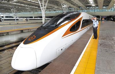 """350公里""""复兴号""""开启高铁新时速(图)"""
