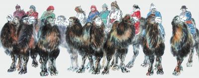 【人物在陇原】西部寻梦的骆驼——王晓银的彩墨艺术