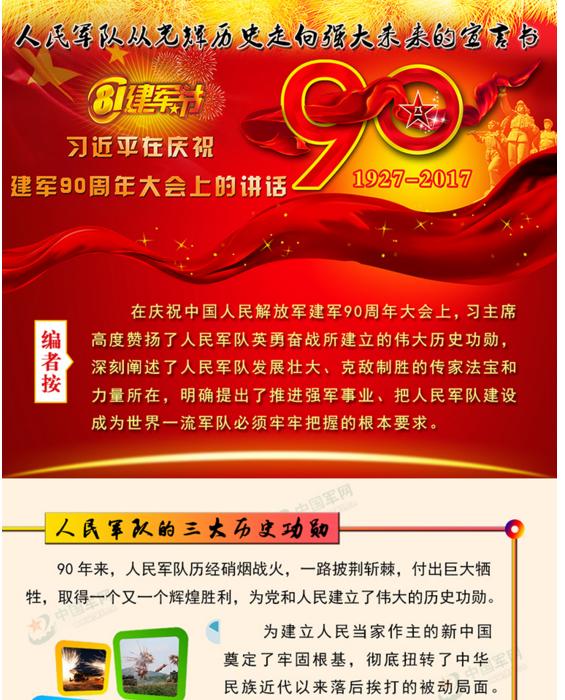 【理上网来·喜迎十九大】图解:人民军队从光辉历史走向强大未来的宣言书