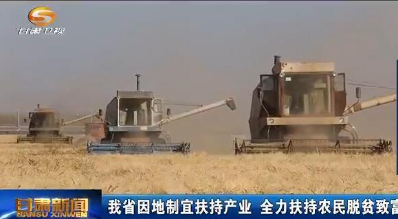甘肃省因地制宜扶持产业 全力扶持农民脱贫致富
