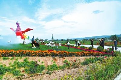 平凉: 泾川县凤凰村百花园成远近闻名的旅游景点