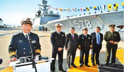 中国海军第二十六批护航编队开始对法国进行友好访问