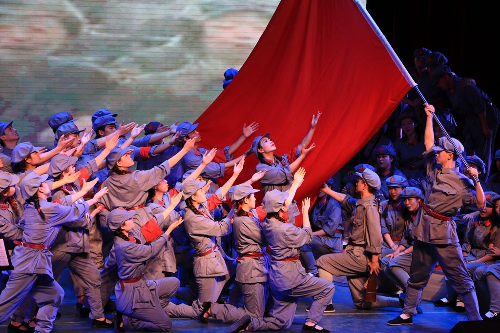 兰州师生举办《长征组歌》专场音乐会喜迎党的十九大