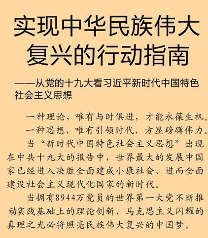 实现中华民族伟大复兴的行动指南