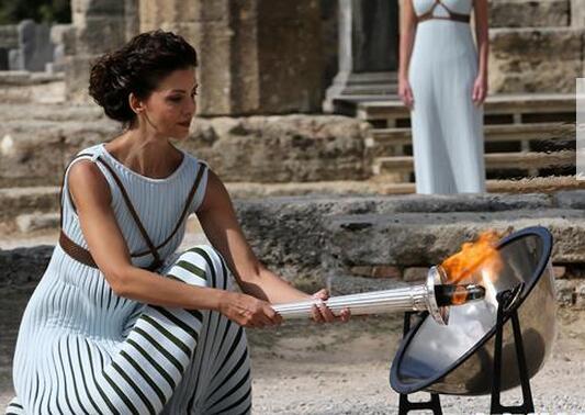 平昌冬奥会圣火采集仪式彩排在希腊举行