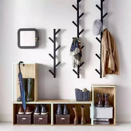 玄关靠墙做,实用且美观