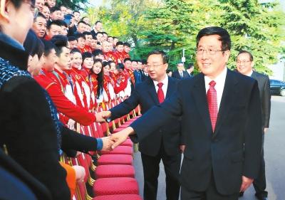 甘肃省参加第十三届全运会总结表彰大会举行 林铎对全省体育工作作出批示(图)