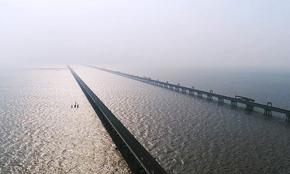黄海大桥 风车 滩涂 爱上江苏的航拍在这儿