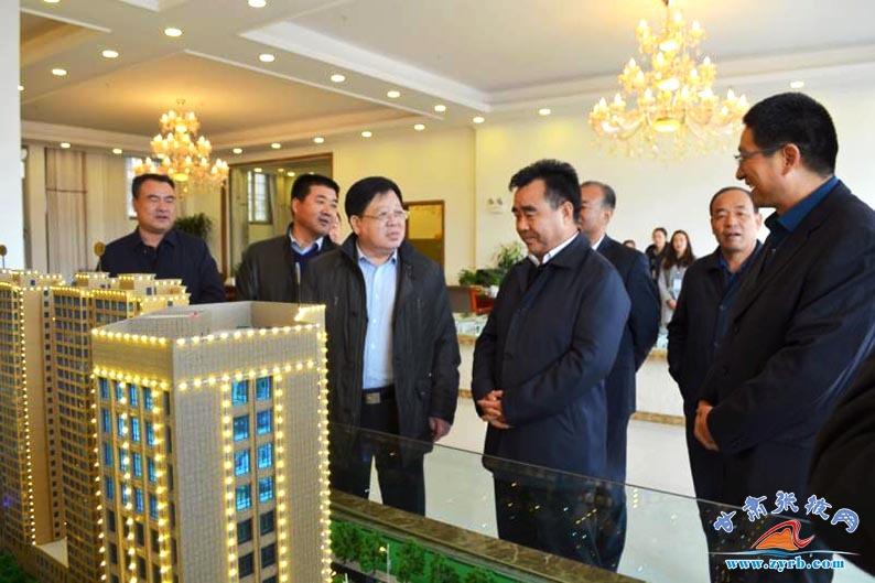 省建设厅杨咏中来张掖就城市重点项目建设调研