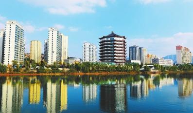 永靖县刘家峡镇八卦岛开发区新貌