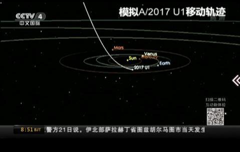 太阳系首次迎来系外星际访客 运行轨迹奇特