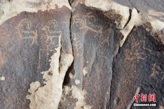 新金沙开户网址:甘肃河西走廊新发现三处早期岩画