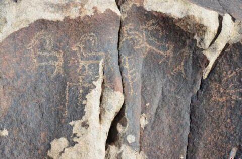 甘肃河西走廊新发现三处早期岩画