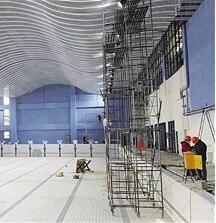 兰州市全民健身中心项目主体结构顺利封顶(图)